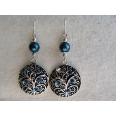 E115       Simply Pewter Earrings