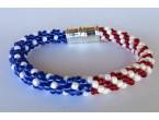 "BBTB4116     "" Patriotic Flag Beads"""