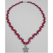 "BBTB4118          ""Patriotic Tila Necklace"""