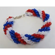 "BBTB4111       ""Patriotic Spiral Bracelet"""