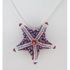 "BBTB4115      ""Patriotic Star Fish Pendant ""      ORIGINAL DESIGN"