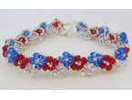 "BBTB4112            ""Patriotic Crystal Bracelet""      ORIGINAL DESIGN"