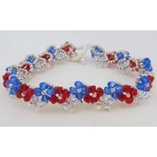 "BBTB4112            ""Patriotic Crystal Bracelet""      ORIGINAL DESIGN"