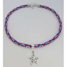 """"""" Beginning Patriotic  Kumihimo with Pendant""""    May 9, 2019      (1:00pm - 2:30pm)"""