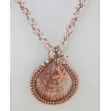 "BBTBMBK1006          ""Embroidered Sea Shell Necklace""      ORIGINAL DESIGN"