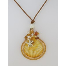 "BBTBMBK1005          ""Embroidered Sea Shell Necklace""      ORIGINAL DESIGN"