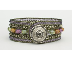 "BBTBMB113                       ""Earth Gems Leather Wrap"""