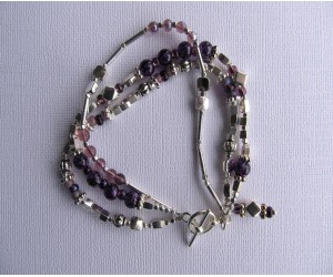 B139            Three Purple Strand