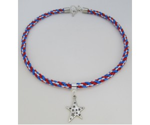 "BBTB4119          ""Patriotic Star Necklace""     ORIGINAL DESIGN"
