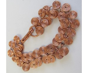 """ Egyptian Copper Spiral Bracelet""              July 22,  2017      (12:30pm - 3:00pm)"