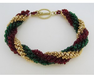 """Holiday Spiral Bracelet""         December 1, 2017 (1:00pm - 3:00pm)"