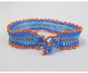 """5 Basic  Beading Stitch Techniques""            July 4,  2017  (1:00pm - 2:30pm)"