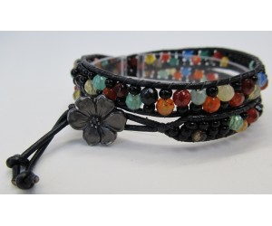 """ Leather Wrapped II Bracelet""    April 19,  2017   (3:30pm - 6:00pm)"
