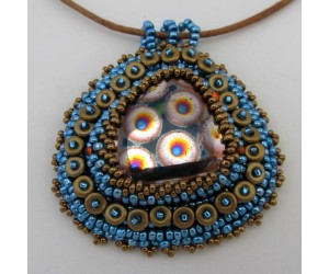 """ Beaded Embroidered Peacock Cabochon""       January 27, 2018     (1:00pm - 3:00pm)"