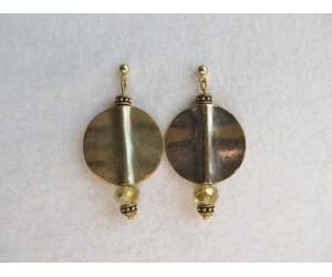 E110          Brass Spirited Earrings