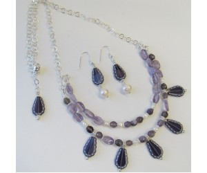 "BBTBMB207                       ""Amethyst Garden Necklace & Earrings"""