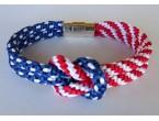 """BBTB4117     """" Patriotic Knot Bracelet"""""""