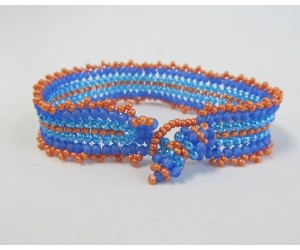 """5 Basic  Beading Stitch Techniques""            July 6,  2018  (1:00pm - 2:30pm)"