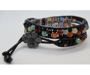 """ Leather Wrapped II Bracelet""    July 19,  2018   (1:00pm - 3:30pm)"