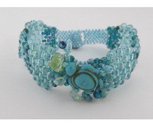 """Curvy Peyote Bracelet""      October 27,  2018    (1:00pm - 3:30pm)"
