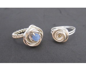 """Wire Wrap Rose Earring and Ring""              September 29,  2018      (1:00pm - 3:00pm)"
